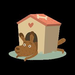 Voffbox venter på pakke